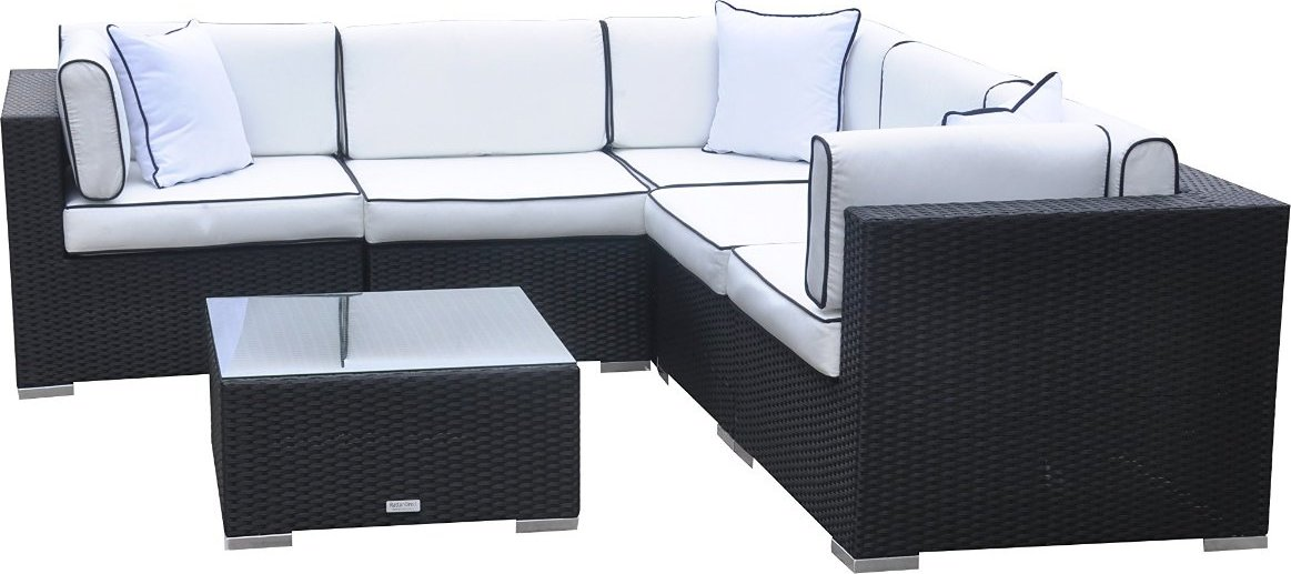 Radeway 6pc Wicker Rattan Outdoor Sectional Sofa Set
