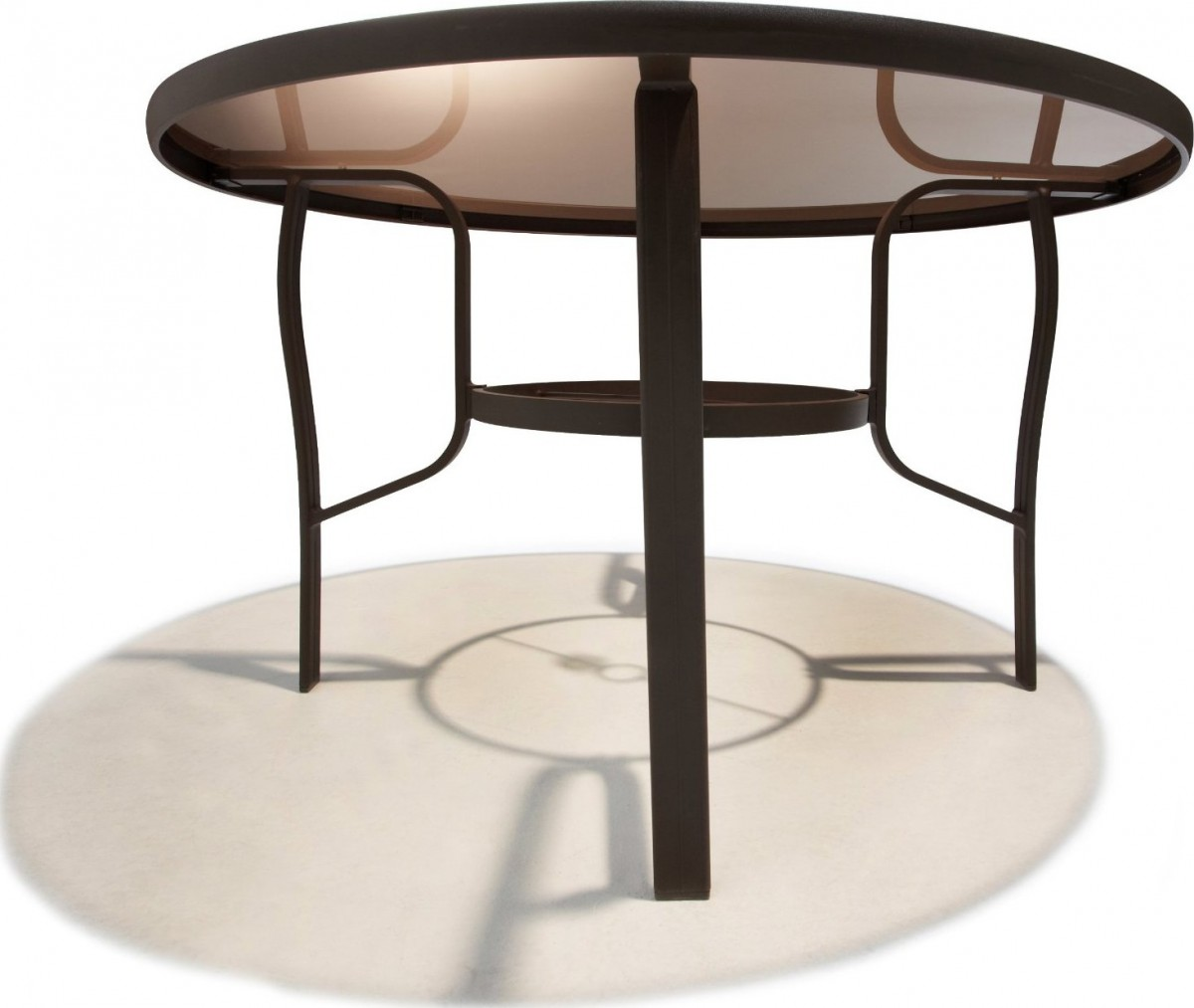 Strathwood Rawley 48 Inch Round Dining Table Patio Table