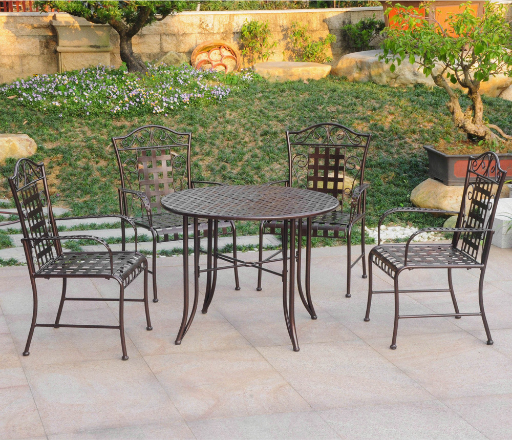 Five-piece Wrought Iron Patio Set