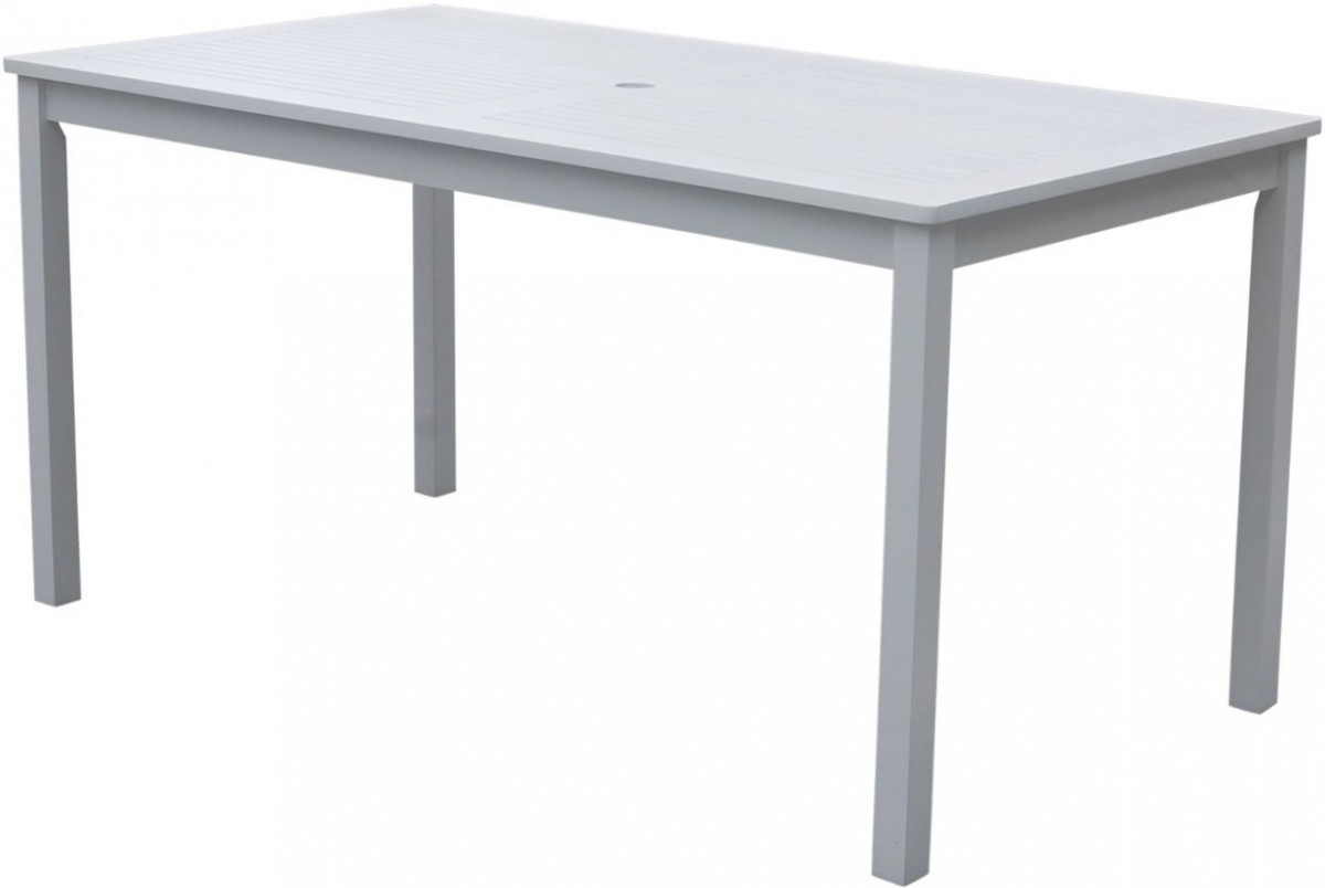 Rustic outdoor dining tables - Vifah Bradley Rectangular White Outdoor Dining Table