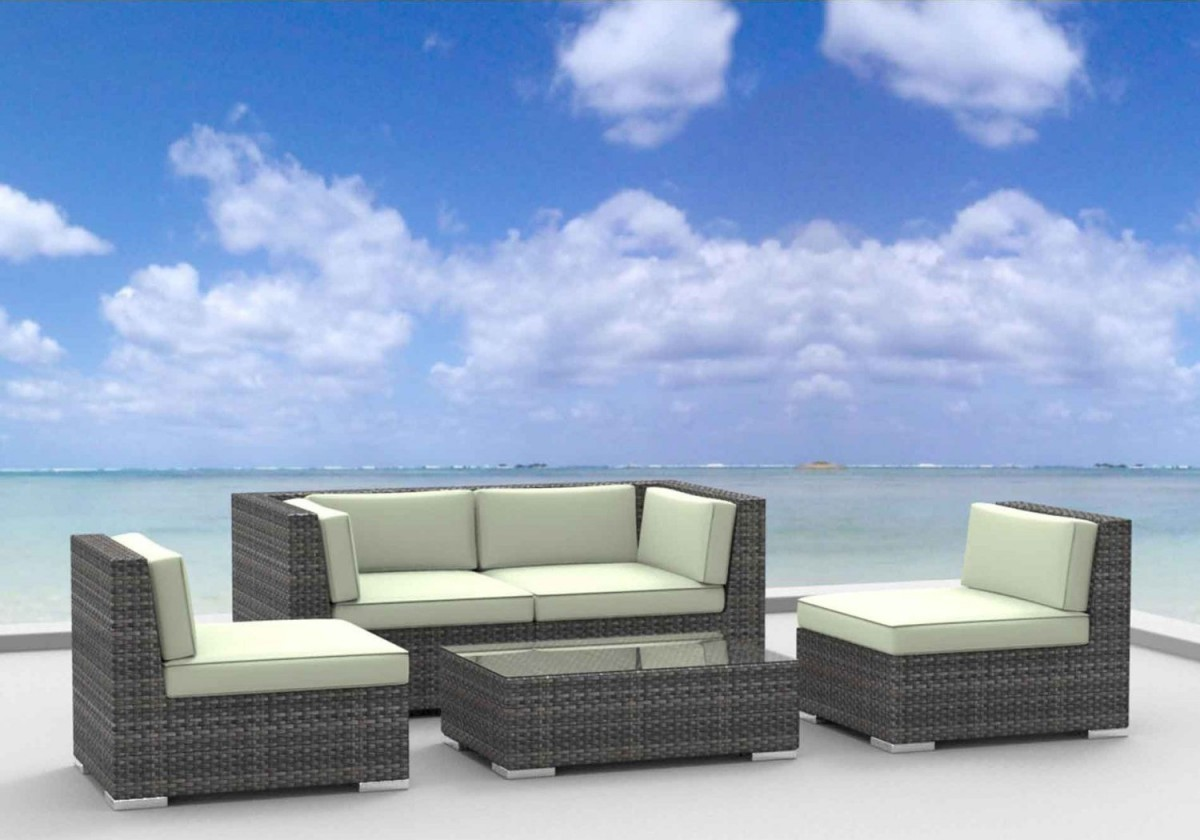 Outdoor sectional sofa beautiful 5 piece a grade teak for Braddock heights chaise lounge