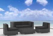 Urban Furnishing RIO 5pc Wicker Outdoor Sectional Sofa Set