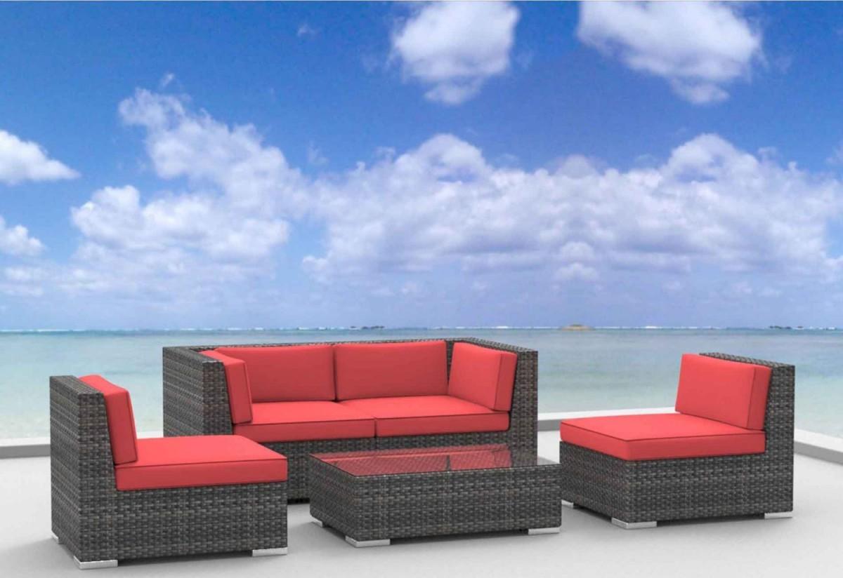 Urban Furnishing RIO 5pc Wicker Outdoor Sectional Sofa Set