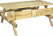 Folding picnic table bench