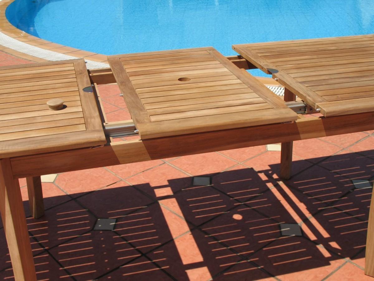 Pebble Lane Living 9 Piece Teak Outdoor Dining Set with Eco-Friendly Teak Wood
