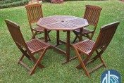 Acacia 5-piece Stowaway Patio Furniture Set