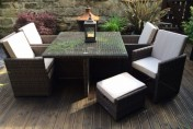 Radeway 9 Piece Rattan Cube Outdoor Patio Dining Set