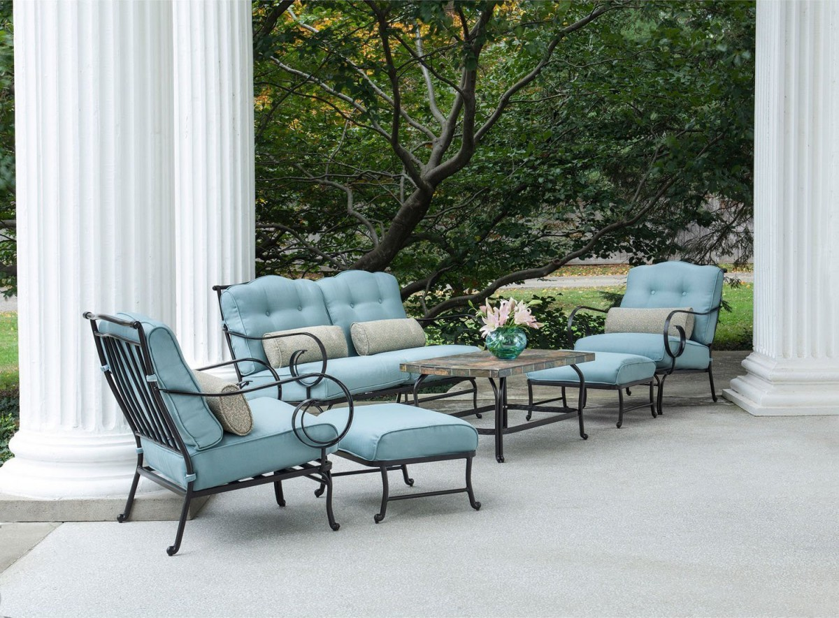 Hanover Oceana 6 Piece Outdoor Conversation Set W/ Deep