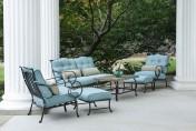 Hanover Oceana 6 Piece Outdoor Conversation Set w/ Deep Seat Cushions