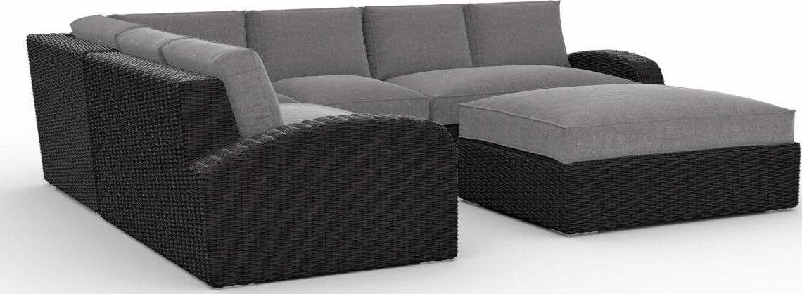 Toja Patio Furniture Azores 5 Piece Outdoor Sectional Sofa Set with Sunbrella Cushions
