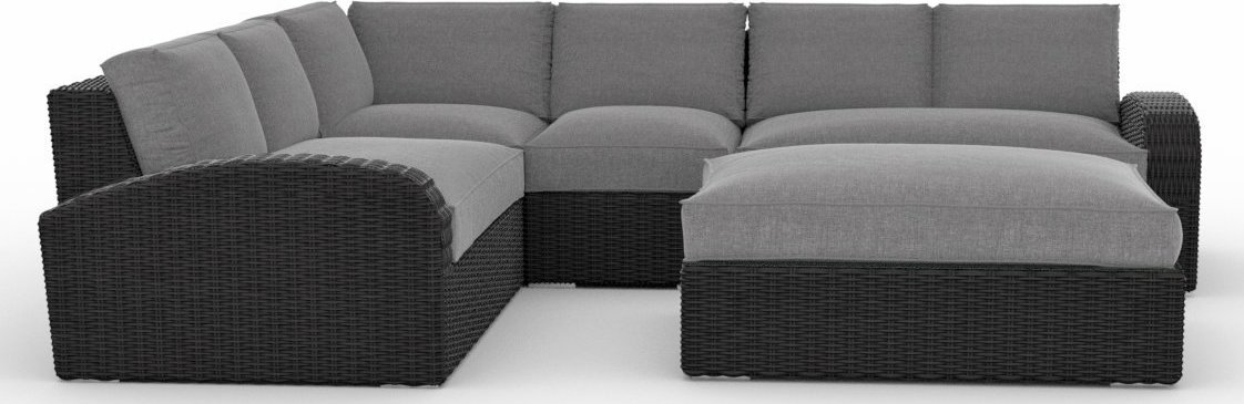 Toja Patio Furniture Azores 5 Piece Outdoor Sectional Sofa
