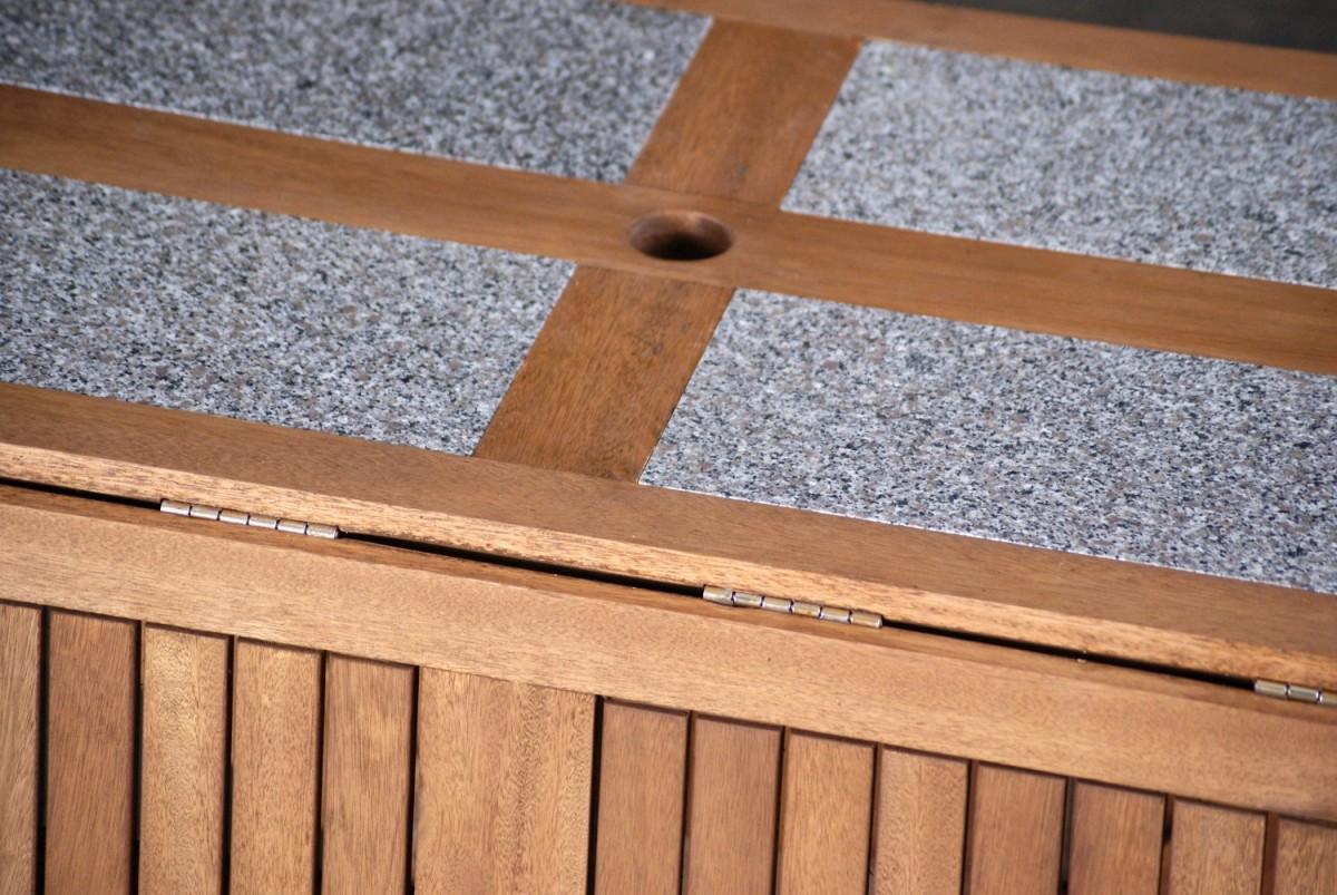 Outdoor Interiors 7 Piece Folding Patio Set Patio Table