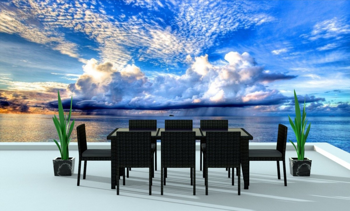 Urban Furnishing 9 Piece Wicker Outdoor Patio Dining Set