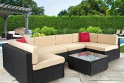 Best Choice Products 7pc Wicker Outdoor Sectional Sofa Set