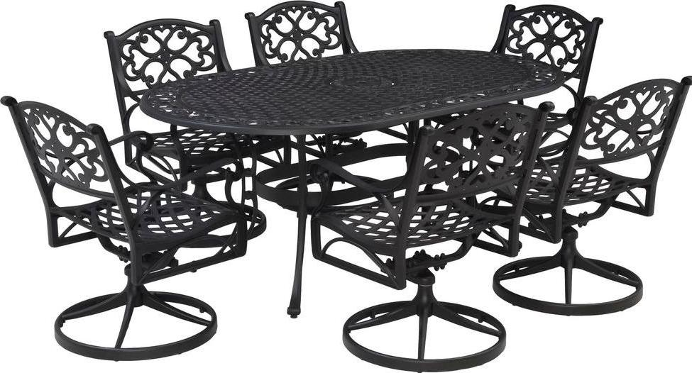 Home Styles Biscayne 7-Piece Outdoor Dining Set with Swivel Arm Chairs