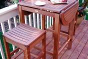 Outdoor Interiors 2-4-6 Folding Pub Table