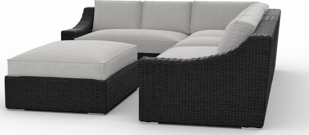 Toja Patio Furniture Bretton 5 Piece Outdoor Sectional Sofa Set with Sunbrella Cushions