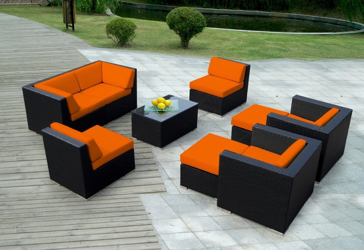 Ohana Collection 9pc Sunbrella Outdoor Sectional Sofa Set