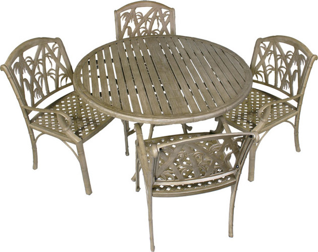 Bali 5-piece Outdoor Dining Table and Chairs Set