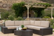 Reddington 6pc Wicker Outdoor Sectional Sofa Set