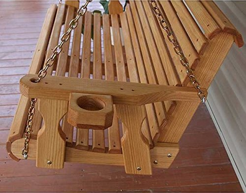 Amish Heavy Duty 5ft Outdoor Wooden Porch Swing Set W