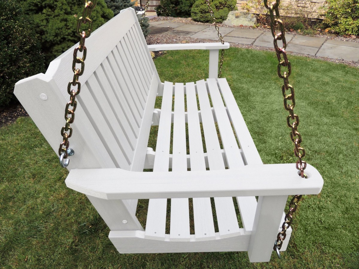 Highwood Outdoor Synthetic / Plastic Wood Porch Swing Set