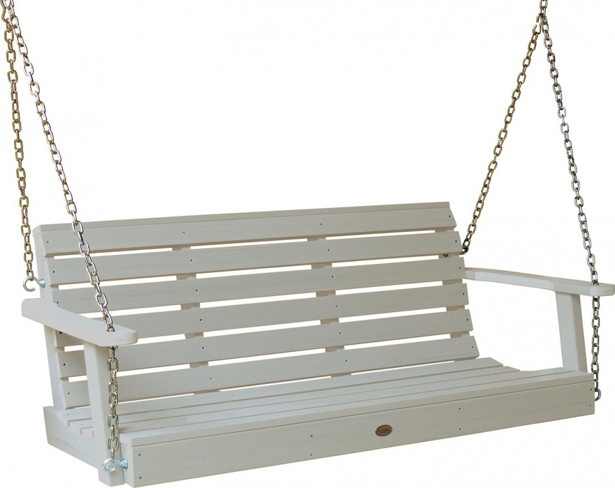 Highwood Outdoor Synthetic Plastic Wood Porch Swing Set