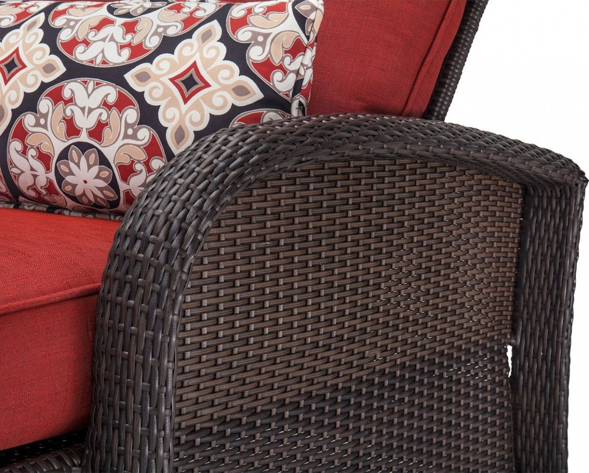 Hanover Strathmere Luxury Wicker Outdoor Recliner Chair