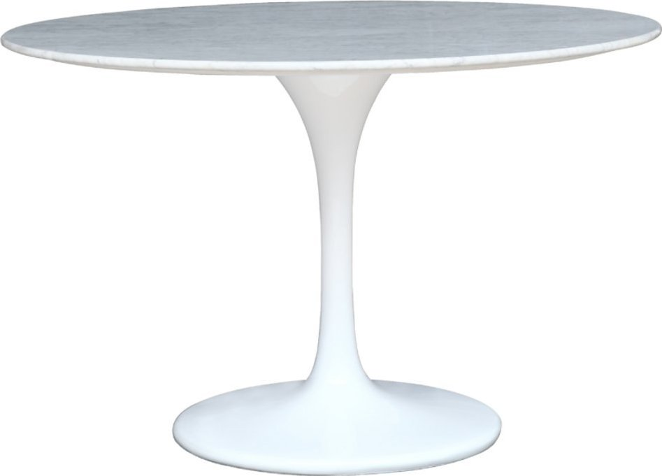 Eero Saarinen Tulip Table MarbleTop Dining Table - White tulip table 48