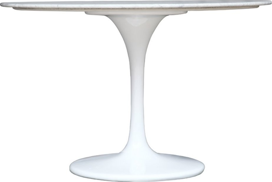 Eero Saarinen Tulip Table – 48″ White, Round, Marble-Top Dining Table