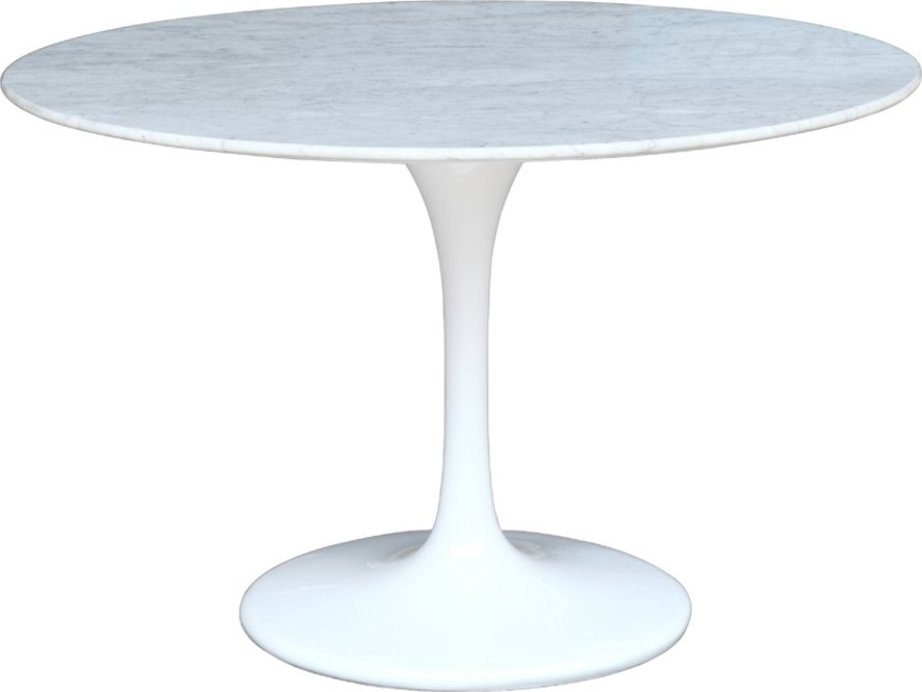 "Eero Saarinen Tulip Table 48"" Marble Top Dining Table"