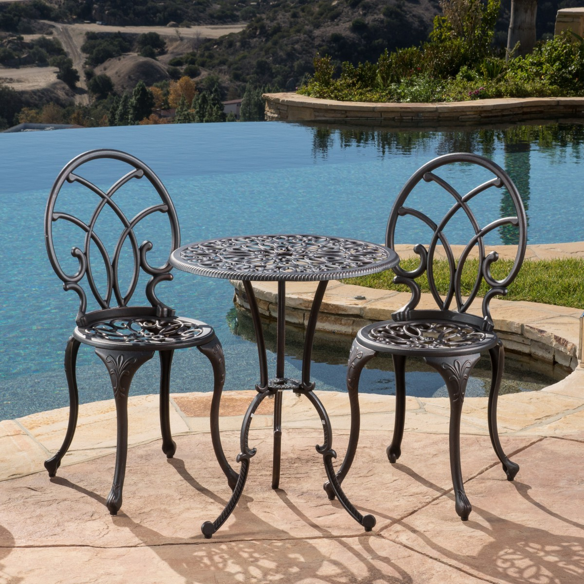 Charleston Aluminum Bronze Bistro Set
