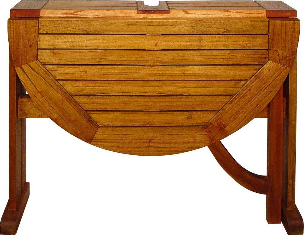 Terrace Mates Caleo Half Round Folding Patio Table Patio Table
