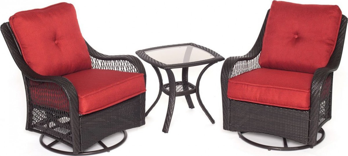 charlottetown brown all weather wicker patio swivel rocker lounge
