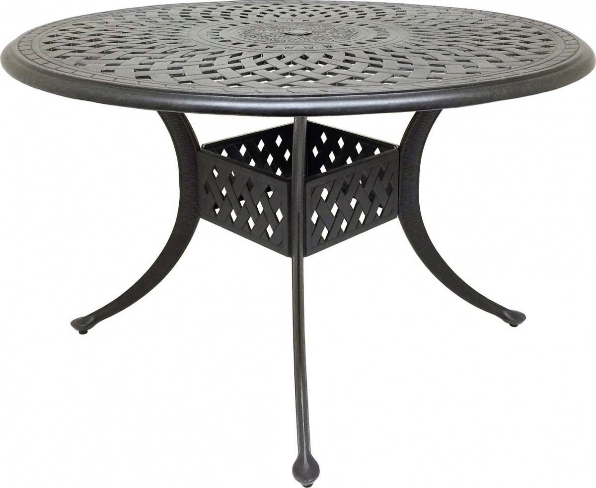 Coastlink Furniture Nevada 5 Piece Cast Aluminum Outdoor Dining Set with 48″ Round Table