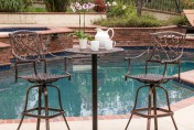 Santa Maria Cast Aluminum Brown 3-piece Bistro Bar Set