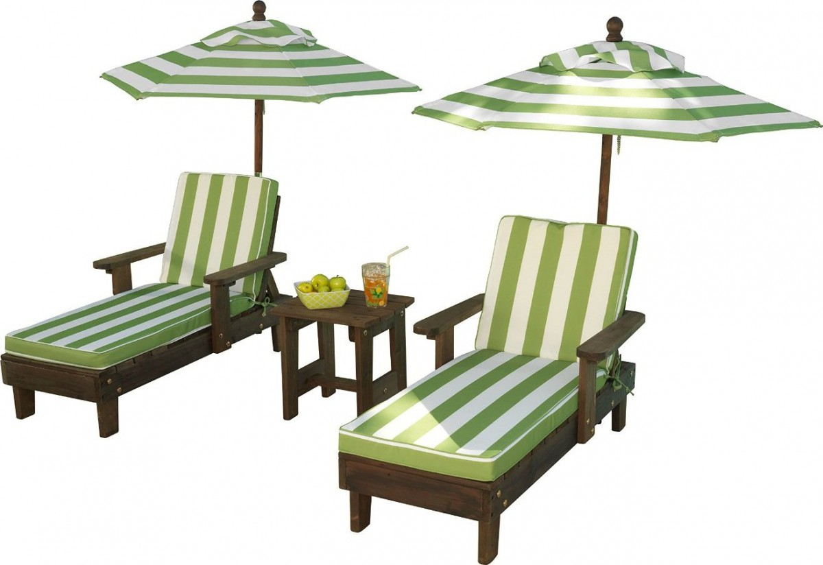 kidkraft outdoor chaise lounge chairs and umbrella set. Black Bedroom Furniture Sets. Home Design Ideas