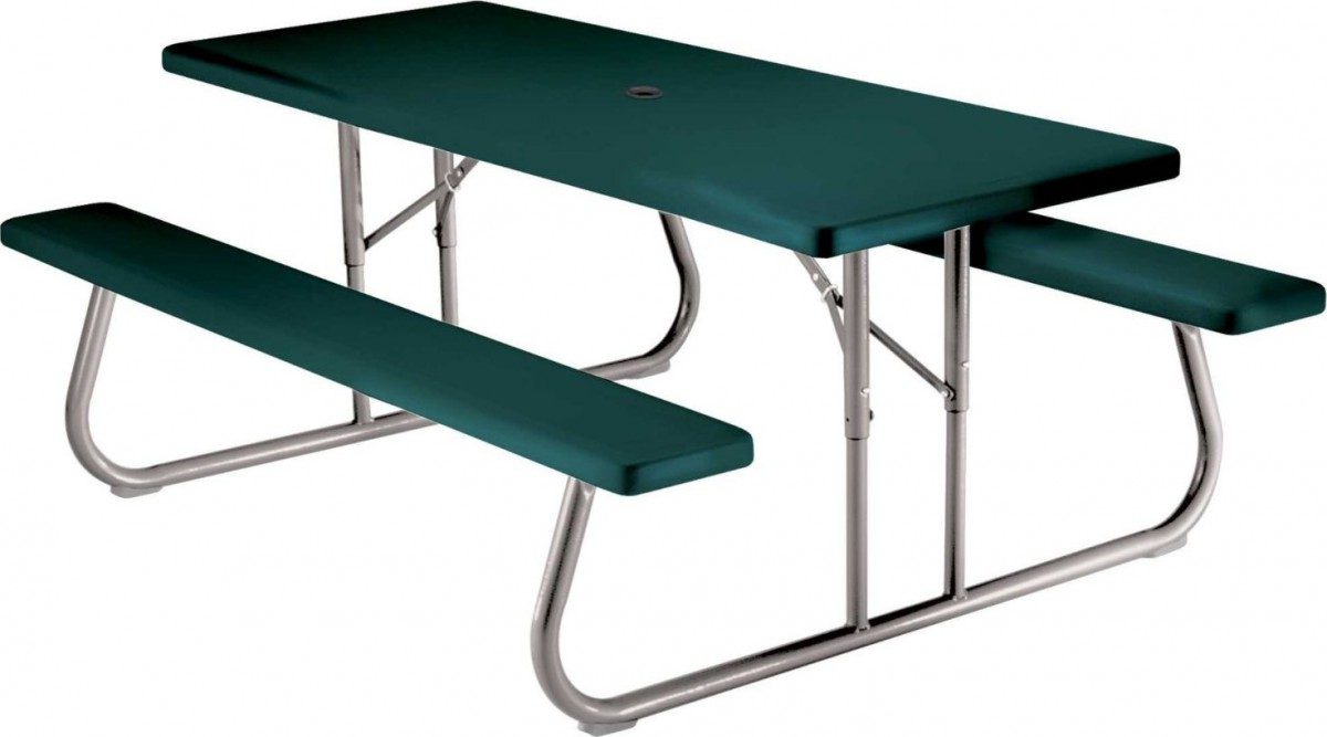 Lifetime 22123 6 Foot Folding Picnic Table Bench In Green