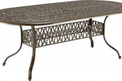 Home Styles Floral Blossom Oval Outdoor Dining Table