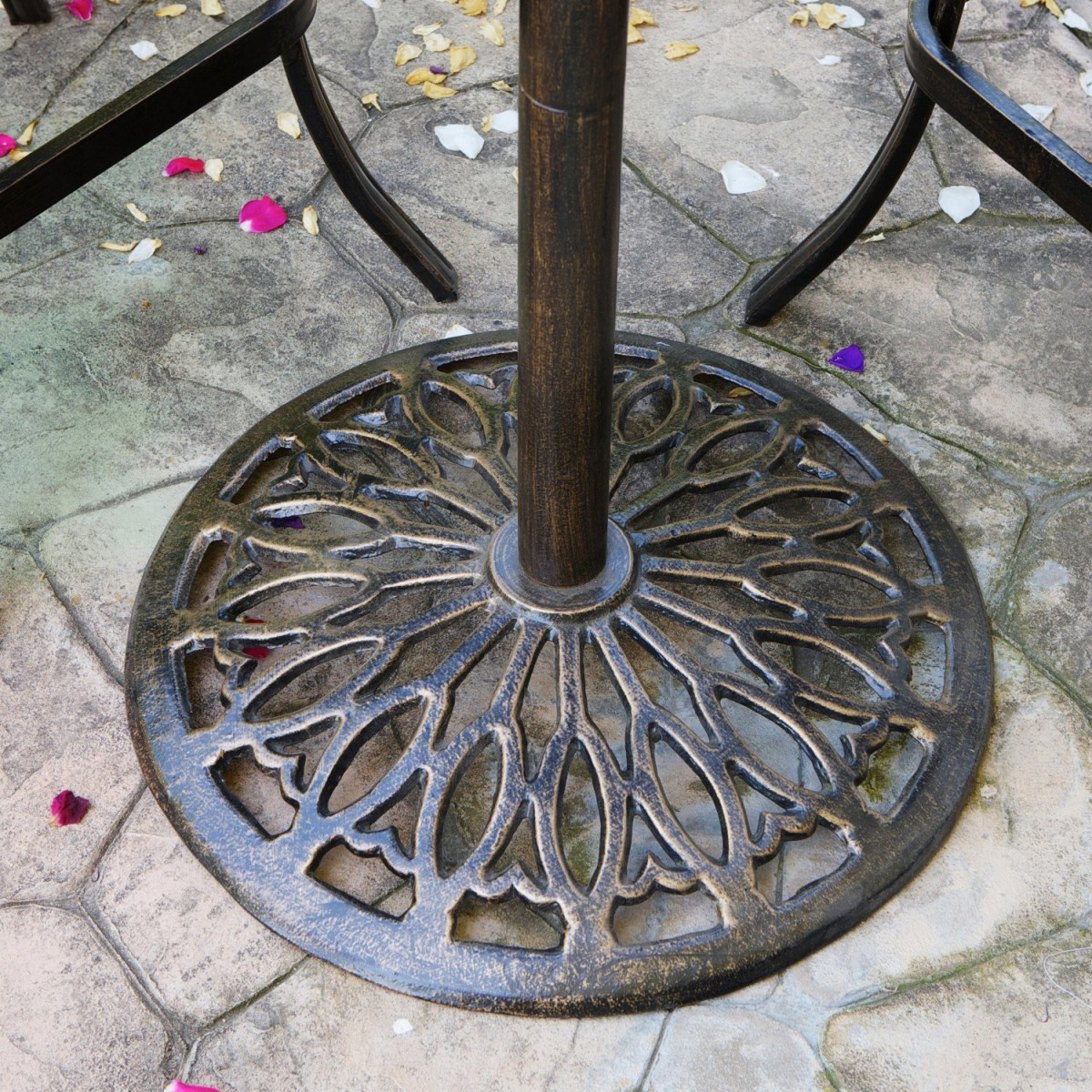 Paris Cast Aluminum Bar Height Outdoor Bistro Table
