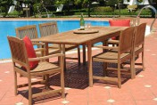 Pebble Lane Living 7 Piece Teak Patio Dining Set