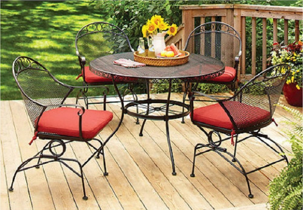 Amazing Better Homes And Gardens Clayton Court 5 Piece Wrought Iron Patio Dining Set