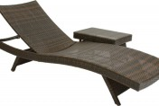Best Selling Folding Wicker Outdoor Chaise Lounge Chairs w/ Table