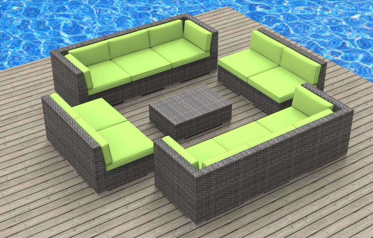 urban furnishing bermuda 11pc outdoor sectional sofa set - Outdoor Sectionals