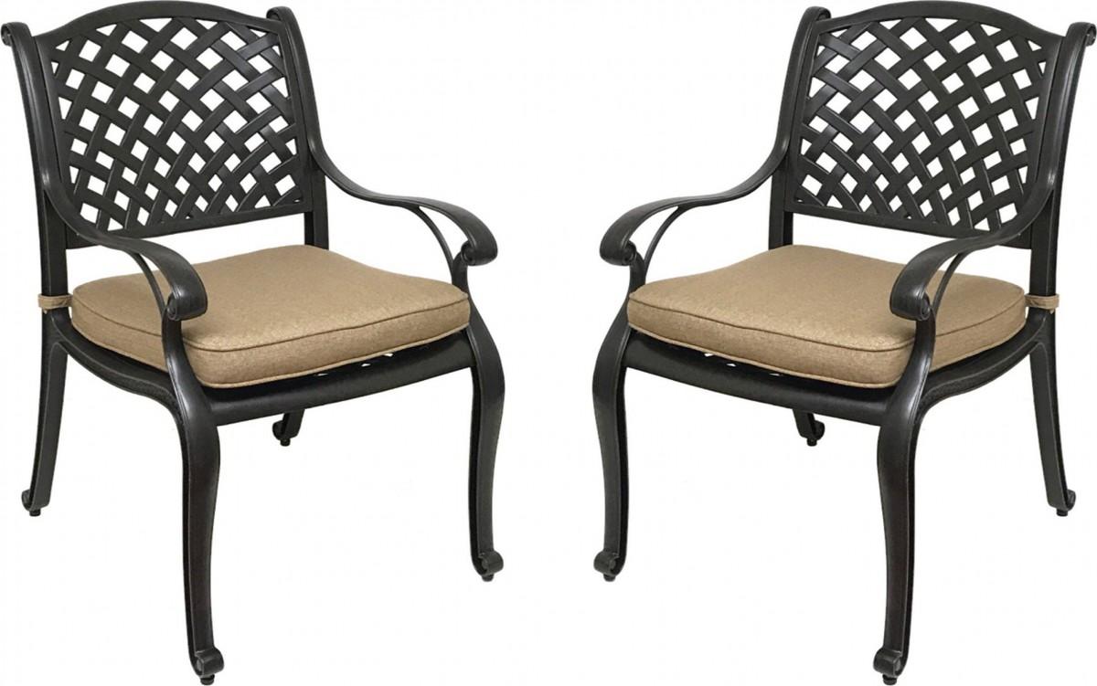 Coastlink Furniture Nevada 7 Piece Cast Aluminum Outdoor Dining Set with Sunbrella Cushions