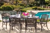 Odena Cast Aluminum 7 Piece Outdoor Dining Set with Rectangular Table