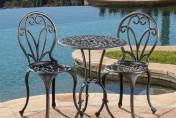 Thomas Cast Aluminum Dark Gold 3-piece Bistro Set