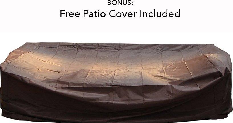 Ohana Collection 6pc Sunbrella Outdoor Sectional Sofa Set