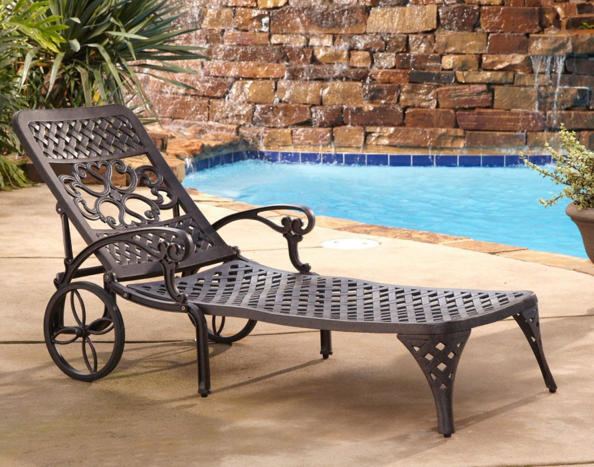 Outdoor Chaise Lounge Chairs With Wheels Cordoba Sling Chaise