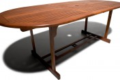 Strathwood Sheffield Hardwood Oval Expandable Table